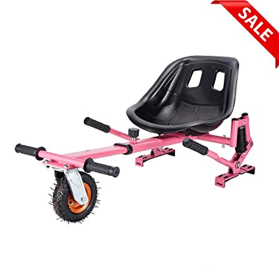Hishine Go Kart Conversion Kit for Hoverboards Safer for Kids All Ages Self Balancing Scooter, Hoverboard Not Included (Pink) : Sports & Outdoors