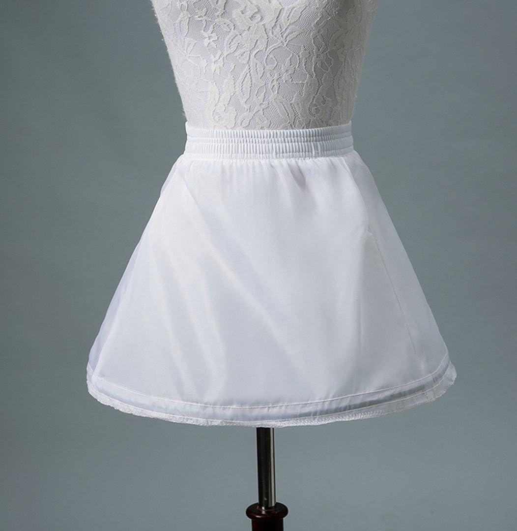 SHENLINQIJ Girls Vintage Underskirt Petticoat Half Slip Tulle Crinoline for Wedding Party Flower Girls Skirt