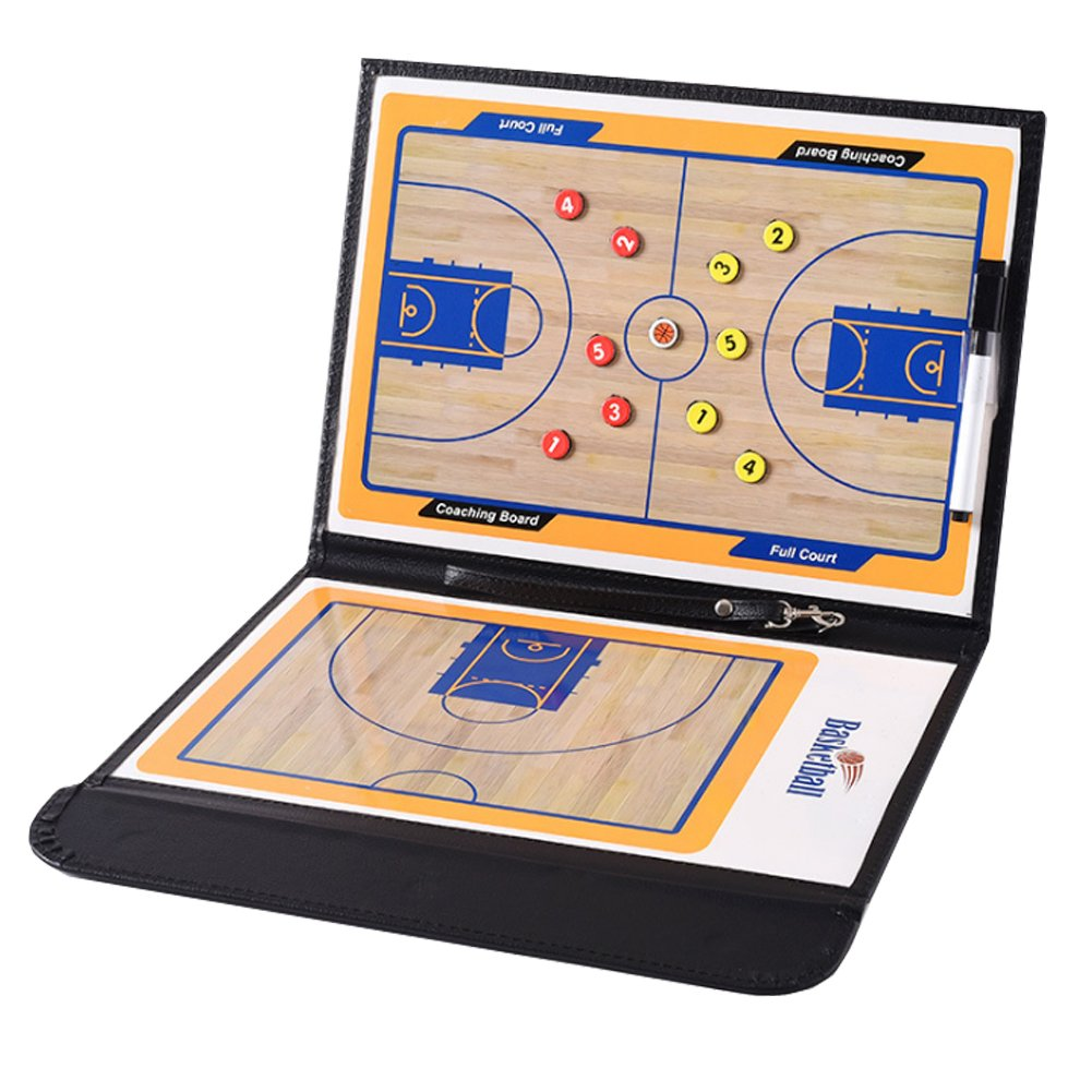 Ueasy Basketball Coach Board Foldable Strategy Teaching Clipboard with Magnet Number and Marker Pen Tactics Kit U-easy Tech Limited.