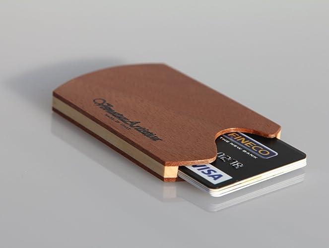 Exceptionnel Porta carte di credito di legno / Porta biglietti di legno / Porta  QX19