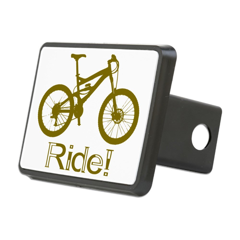 CafePress MTB-Ride-Brown Trailer Hitch Cover Truck Receiver Hitch Plug Insert