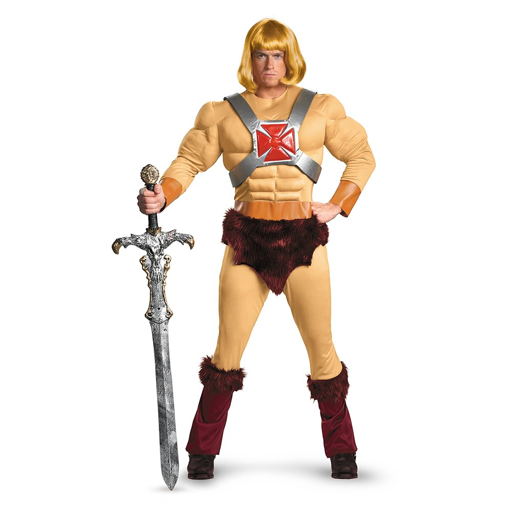 amazoncom disguise masters of the universe he man classic muscle mens adult costume clothing - Halloween Muscle