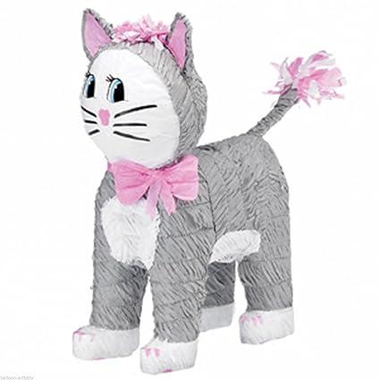 Amazon.com: Amscan Pinatas – Piñata, diseño gato (gris ...