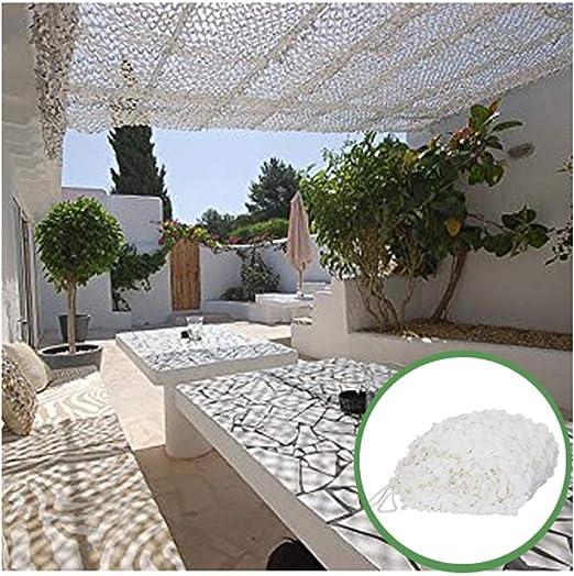 Red de Camuflaje Blanca, 3mx5m Malla de Camuflaje Ejército Protección Solar Malla Sombra Redes de Jardín Ligero Durable para Patios Sombrilla Decoración Caza Ciegos Disparos Camping Fotografía 8m 6m: Amazon.es: Hogar