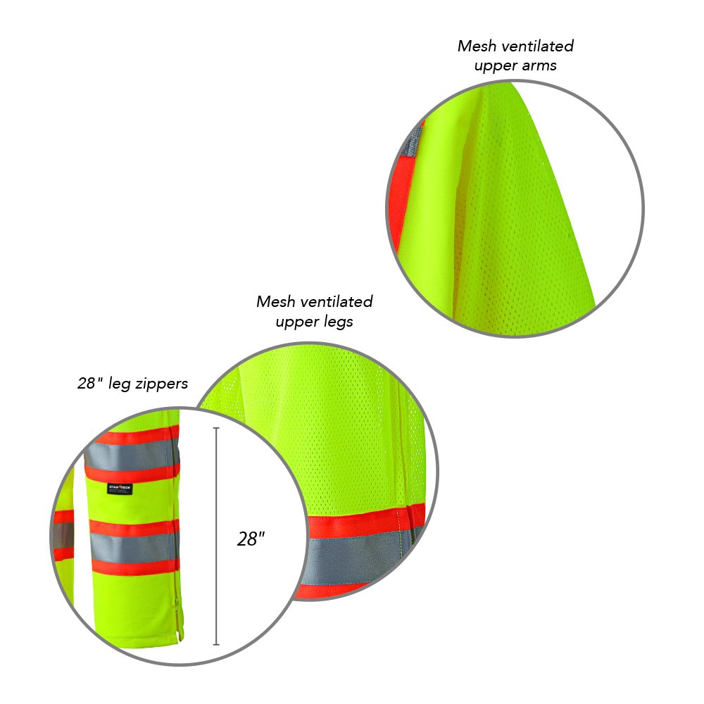 Pioneer V1070161U Hi-Vis Traffic Safety Coverall - Yellow/Green (XL) by Pioneer (Image #4)