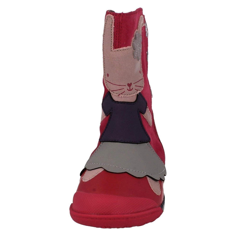 Clarks Mädchen Stiefel mit Hasen Design, Berry (Pink