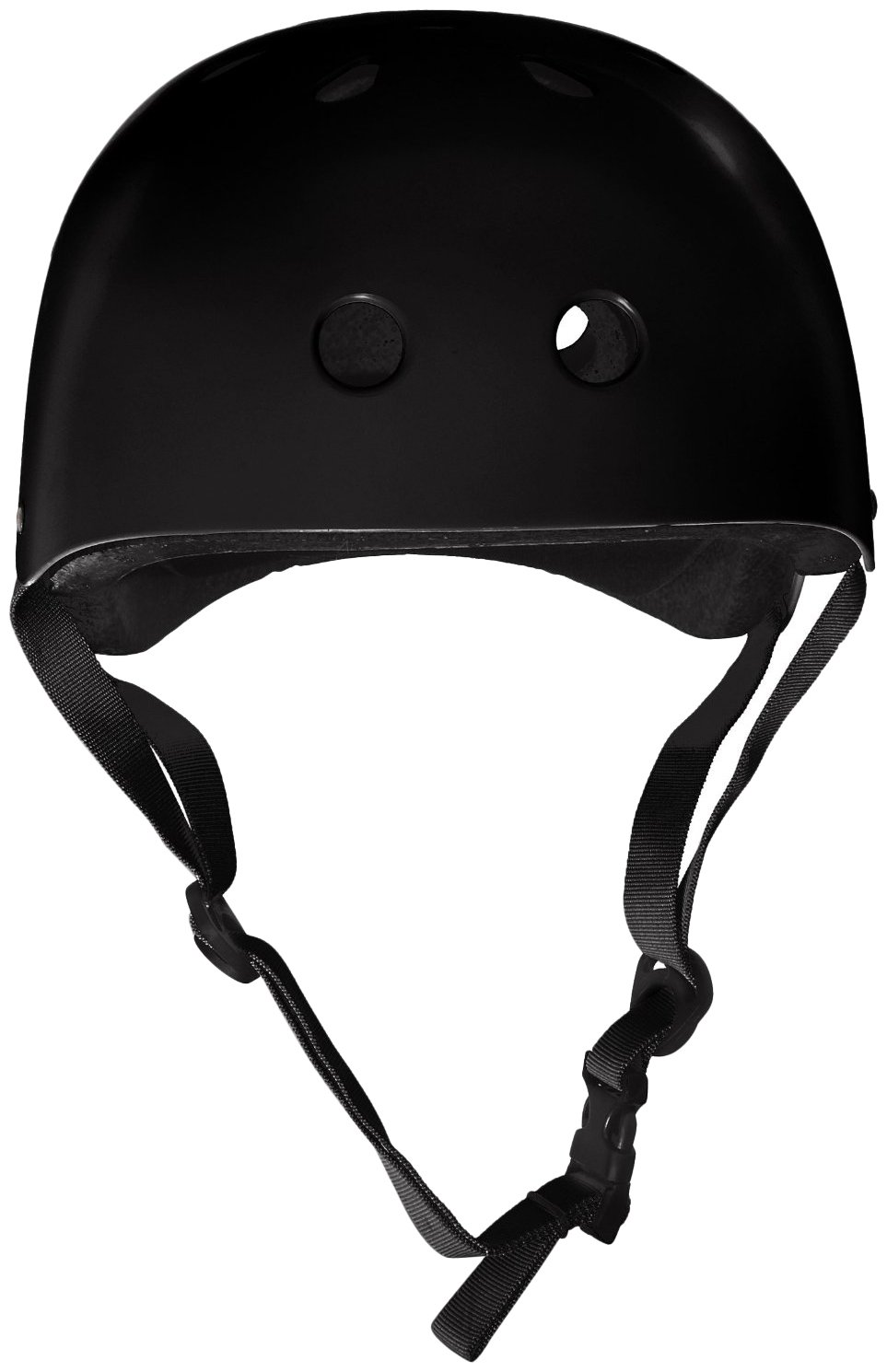 Krown Black Shell with Black Strap Skateboard Helmet KRHEL-YBLK