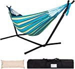 Lazy Daze Hammocks Double Hammock with Space Saving Steel Stand Includes