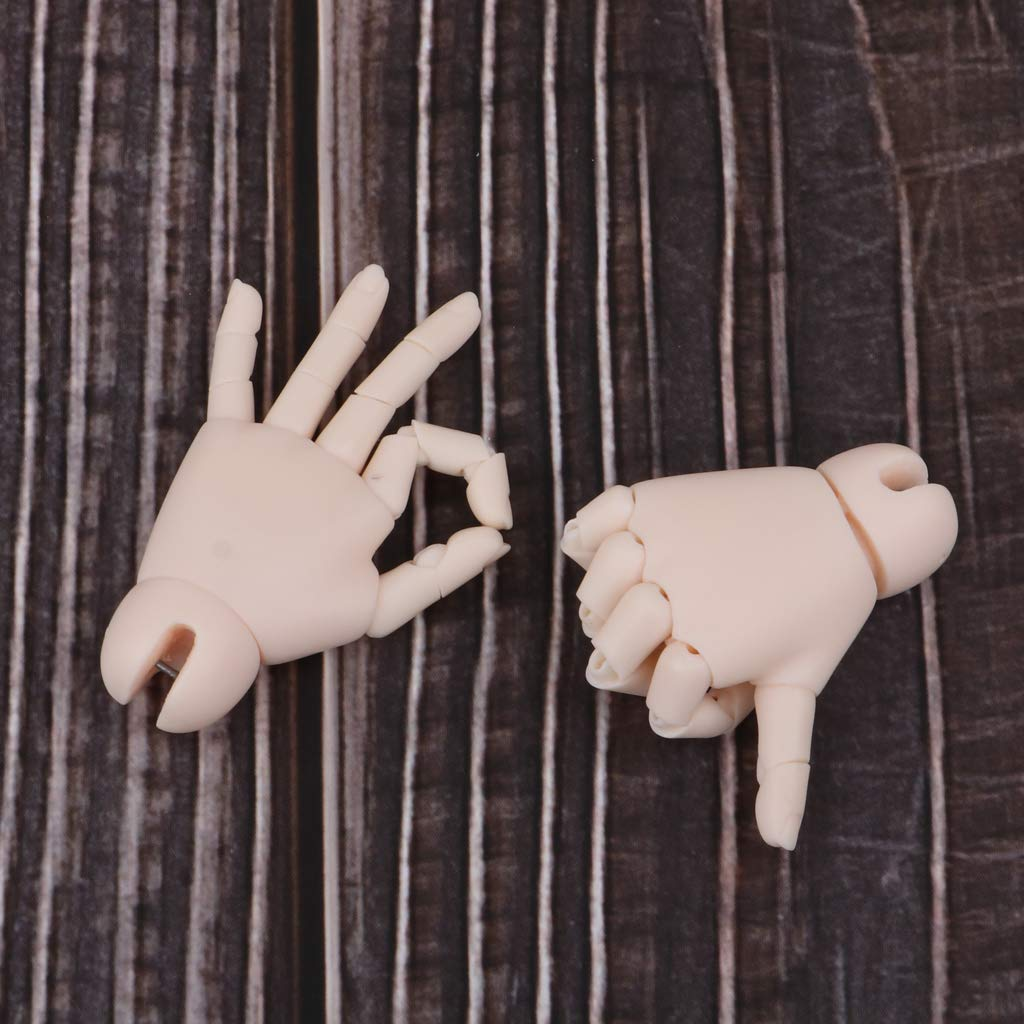 Flexible 1//4 Doll Jointed Hands For BJD MSD Ball-Jointed Doll Body Normal