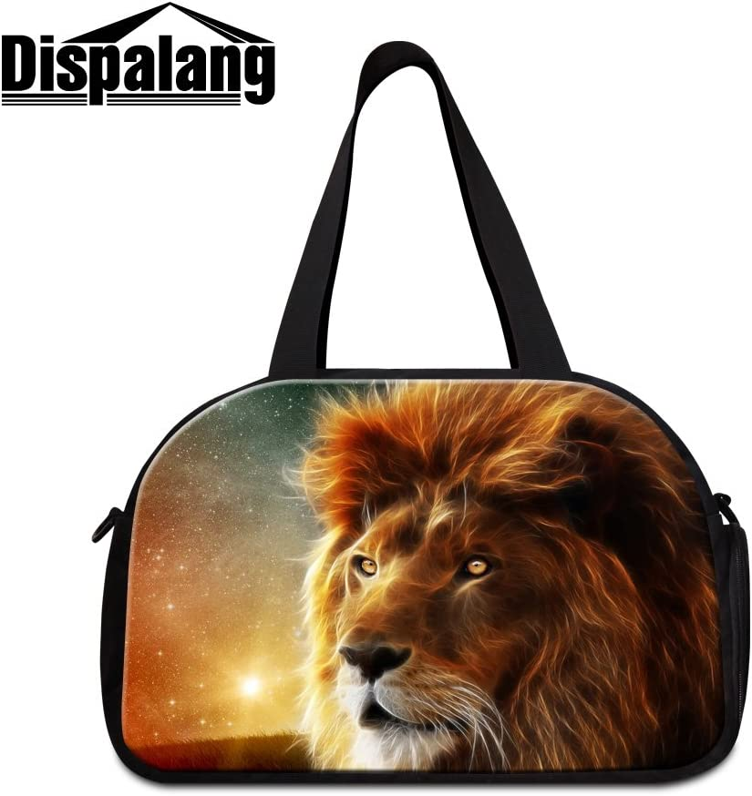 Generic Lion Printing Gym Bags for Men Cool Sports Duffle Bag for Boys