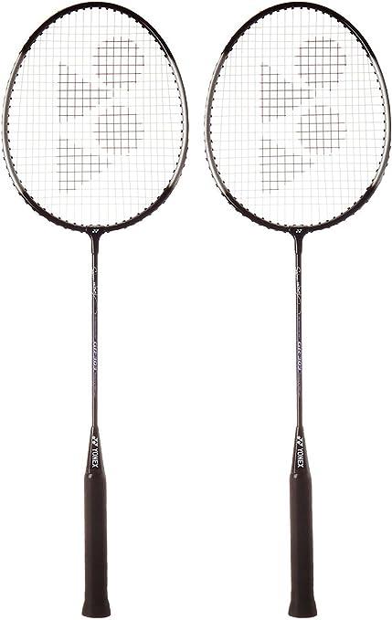 Black//S Set of 2 Yonex GR 303 Combo Aluminum Badminton Racquet with Full Cover