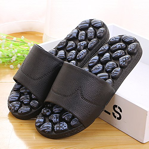 slippers black antiskid 41 indoor bathroom Massage slippers men xEI8wYqwzX