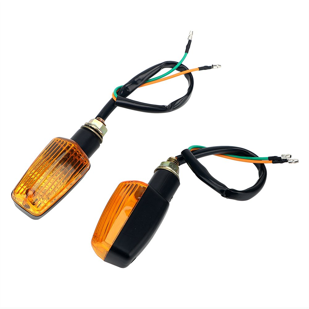 TKSTAR Motorrad Led Mini Blinker Indicator Turn Signal Bernstein Licht R/ü cklicht Bremslicht 4er Pack 12V 10W JUNEO