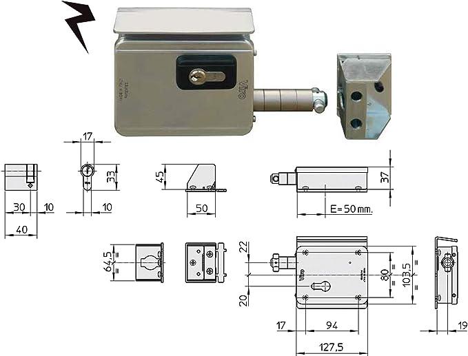 viro v7905 V09 Eléctrico Puerta Corredera de bloqueo, Silver: Amazon.es: Bricolaje y herramientas