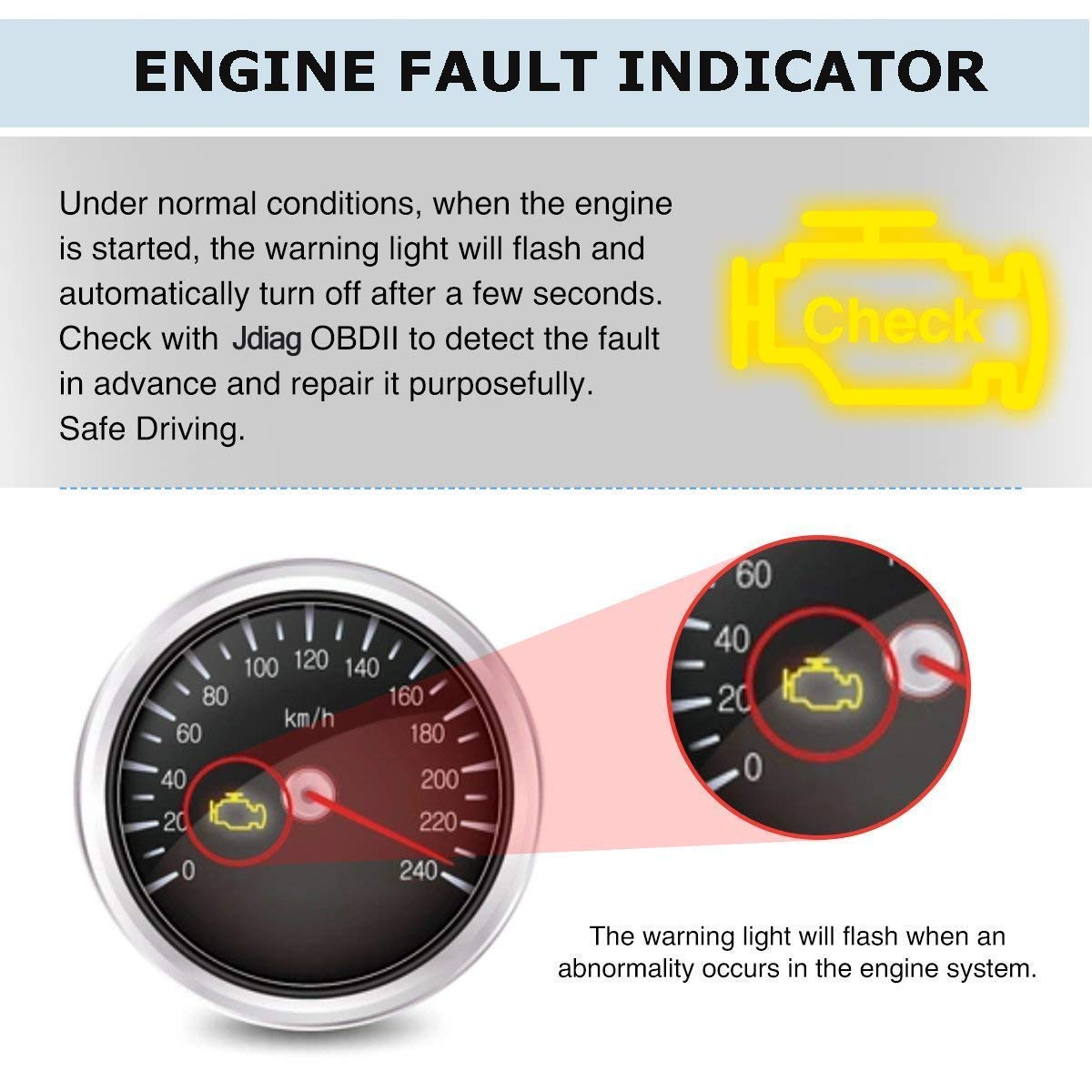 JDiag OBD2 Scanner Auto Check Car Engine Fault Code Reader Enhanced Universal OBD II Classic Diagnostic Scan Tool Suitable for EOBD/CAN Vehicles by JDIAG (Image #2)