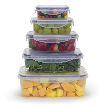 Amazoncom Food Storage Airtight Nested Plastic Containers with