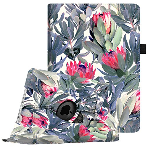 Fintie iPad Air 2 Case - 360 Degree Rotating Stand Protective Case Smart Cover with Auto Sleep / Wake Feature for Apple iPad Air 2, Protea Paradise