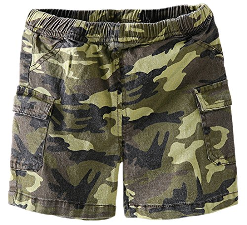 Aulase Baby Infant Toddler Boys Basic Stretch Cotton Pull on Cargo Shorts Camo 73cm/6-9M