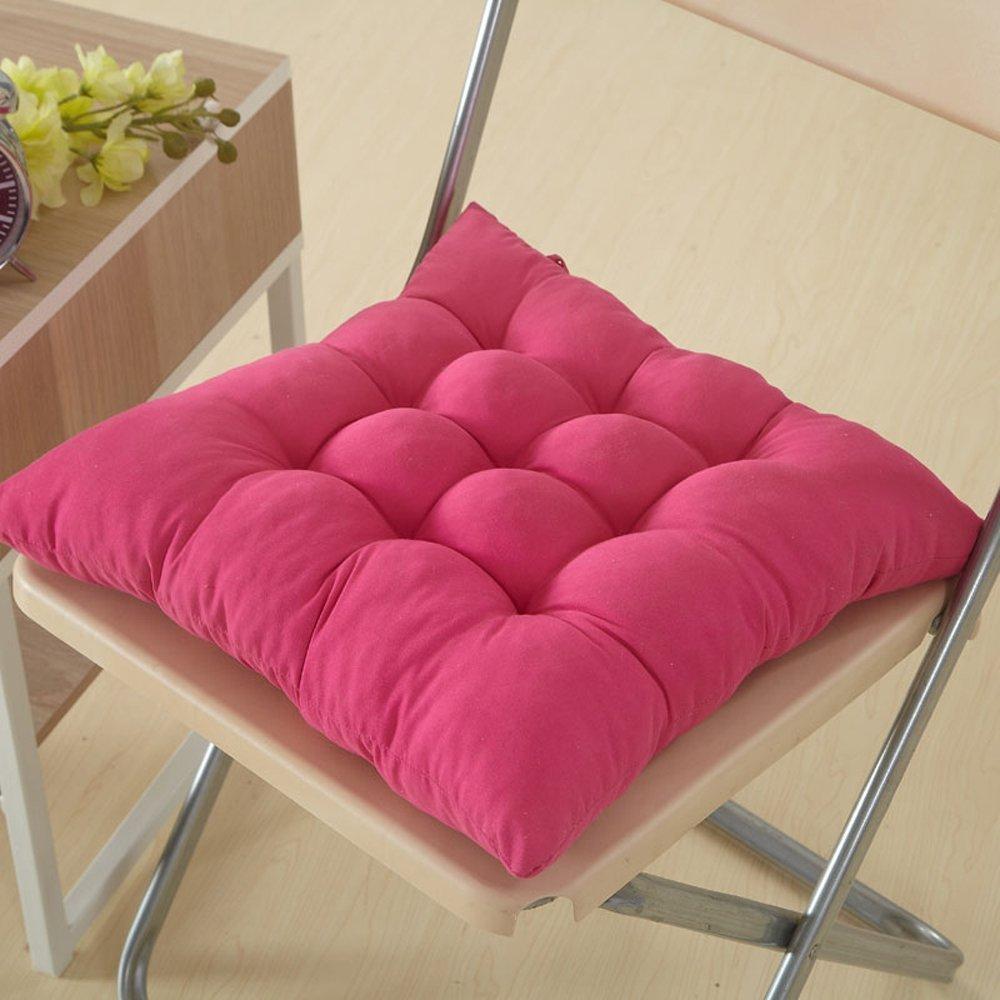 Miig-du Cuscino Sedia 41x41, Set da 4 Cuscini da Sedia Trapuntati, Morbido Cuscino per Sedia Cuscino Sedia Cucina da Giardino,Disponibile in Tanti Colori Diversi (Rosa)