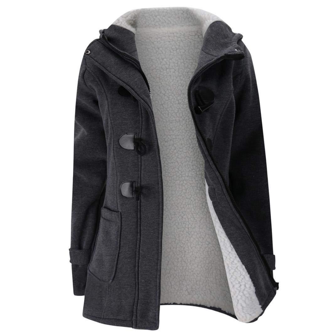 Gyoume Winter Overcoat Jackets Plus Size Coat Women Teen School Hoodies Sweater Coat Tops Warm Windbreaker