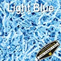 Mighty Gadget (R) 1/2 LB Light Blue Crinkle Cut Paper Shred Filler for Gift Wrapping & Basket Filling
