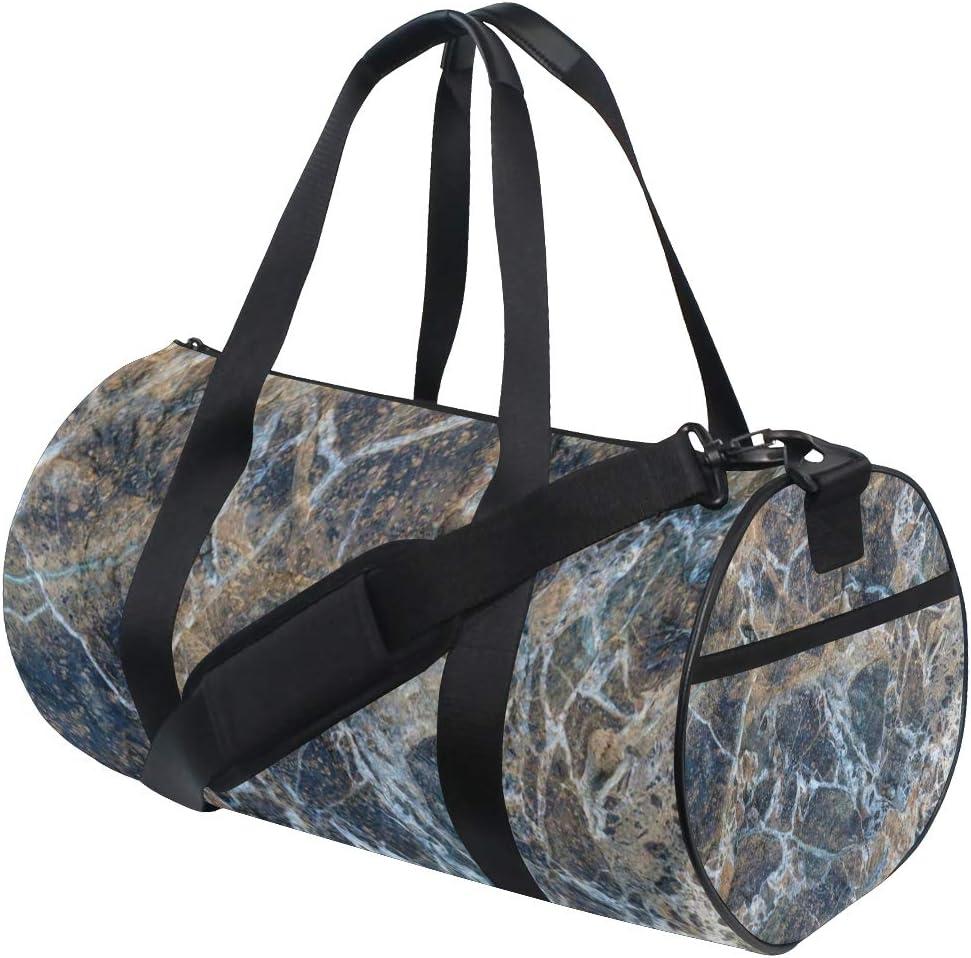 Duffel Bags Abstract Gray Marble Womens Gym Yoga Bag Small Fun Sports Bag for Men