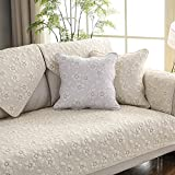 Cotton Sectional sofa throw cover pad Sofa furniture protector for pets dog All season Anti-slip U L shape Couch cover-1 piece-C 28x71inch(70x180cm)