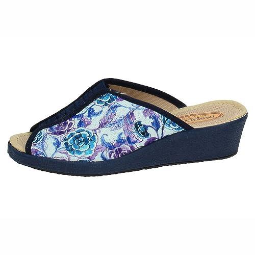 MADE IN SPAIN 1036 Zapatillas DE CASA Mujer Zapatillas CASA Marino 37