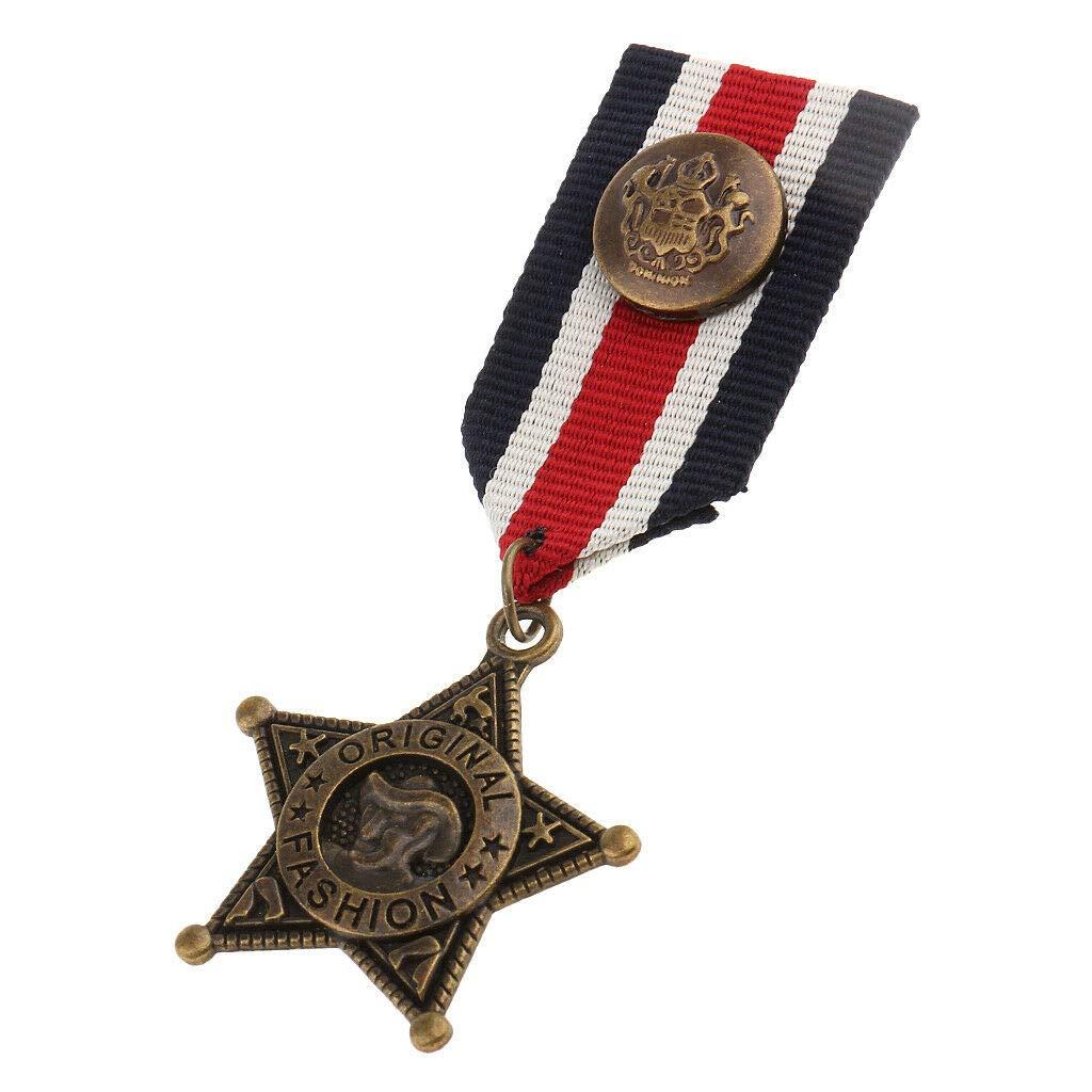 Vintage Steampunk Men/'s Badge Brooch Pin Metal Medal Costume Party Decor