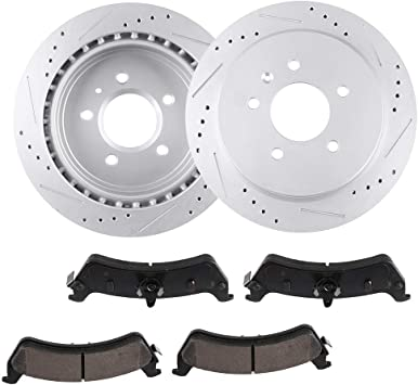Rear Disc Brake Rotors Caddy 2003 2004-2007 CTS 2005-2009 2010 2011 STS
