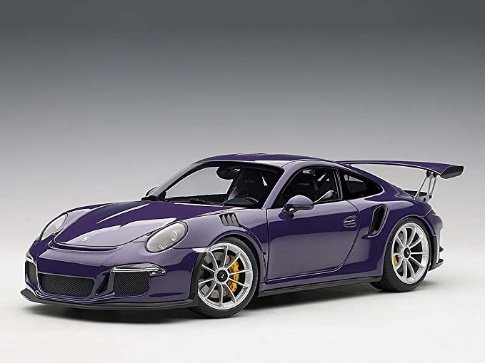 Amazon.com: Porsche 911 (991) GT3 RS Ultra Violet with Silver Wheels 1/18 Model Car by Autoart 78169: Toys & Games