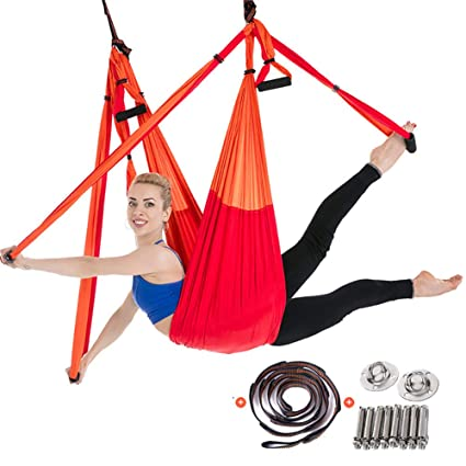 Amazon.com: YTBLF Aerial Yoga Swing, Super Anti-Gravity Yoga ...