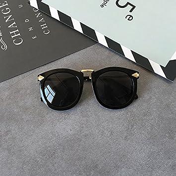 LXKMTYJ Retro rundes Gesicht Sonnenbrille Mädchen ist stilvoll Round-ups Internet rote, schwarze Sonnenbrille