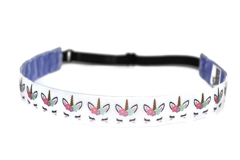 BEACHGIRL Bands Unicorn Headband Non Slip Adjustable Sports Hair Band For Women & Girls