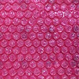 """TOTALPACK Packaging Air Bubble Cushioning Wrap Roll For Safe & Secure Packing- 3/16"""" Reliable Air Bubble Cushioning Wrap, Easy-To-Tear 12"""" Pink Anti-static Sheets For Smaller Fragile Items -150ft Roll"""