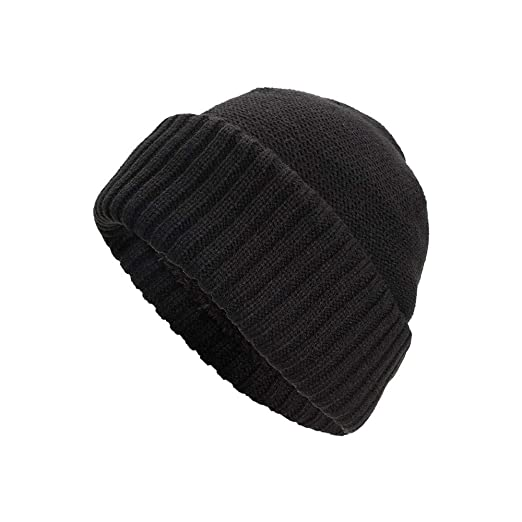 8a6bd9d6e09ebd Knit Hats with Brim Slouchy,NRUTUP Trendy Warm Chunky Soft Stretch Cable  Knit Beanie Skully