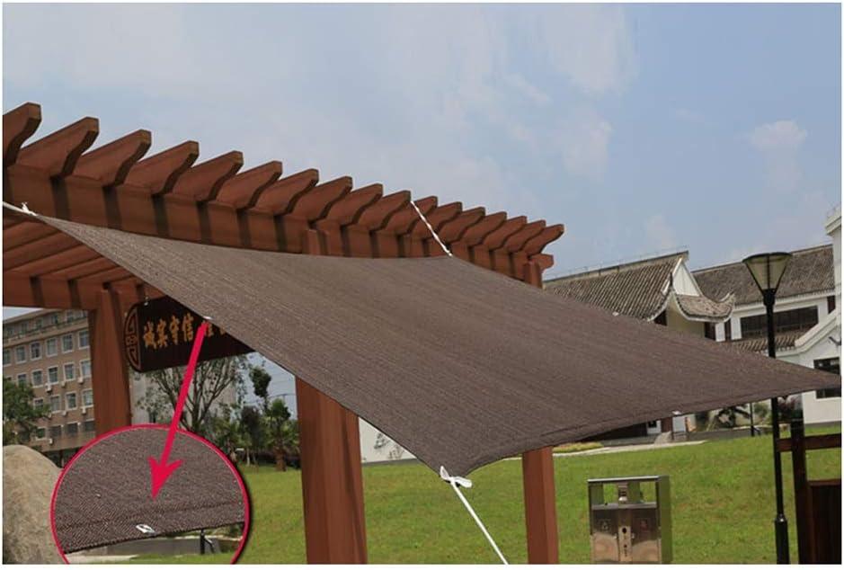 LIANGLIANG Malla Sombra De Red Invernadero Jardín Pérgola Hidratante Protector Solar A Prueba De Polvo Anti-UV Bien Tejido Borde Resistente Al Estiramiento, Marrón (Color : Brown, Size : 4x9m): Amazon.es: Jardín