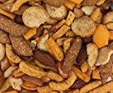 Spicy Snack Mix. Crunchy Bar Food, Blend of Cheese Crackers, Cajun Corn Sticks, Almonds, Rice Crackers etc. Great Party Snack. Two - 1 Pound Bags.