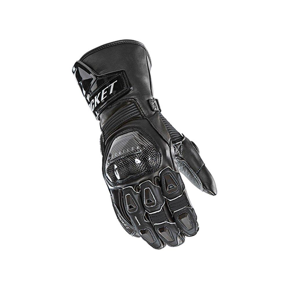 Joe Rocket GPX Mens On-Road Motorcycle Leather Gloves - Black/Black / Large