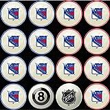 Imperial Officially Licensed NHL Merchandise: Home vs. Away Billiard/Pool Balls, Complete 16 Ball Set, New York Rangers