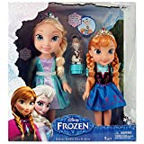 Jakks Pacific Disney Frozen Deluxe Toddler Elsa and Anna Dolls