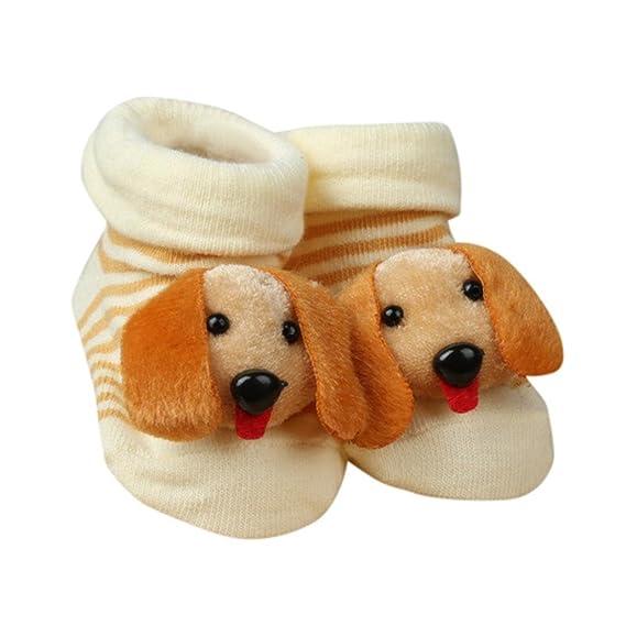 Calcetines De Bebé K-youth® Niños De Dibujos Animados Niños Bebé Antideslizante Calcetines Calzados Calcetines Pantuflas Para 0-12 Meses (C): Amazon.es: ...