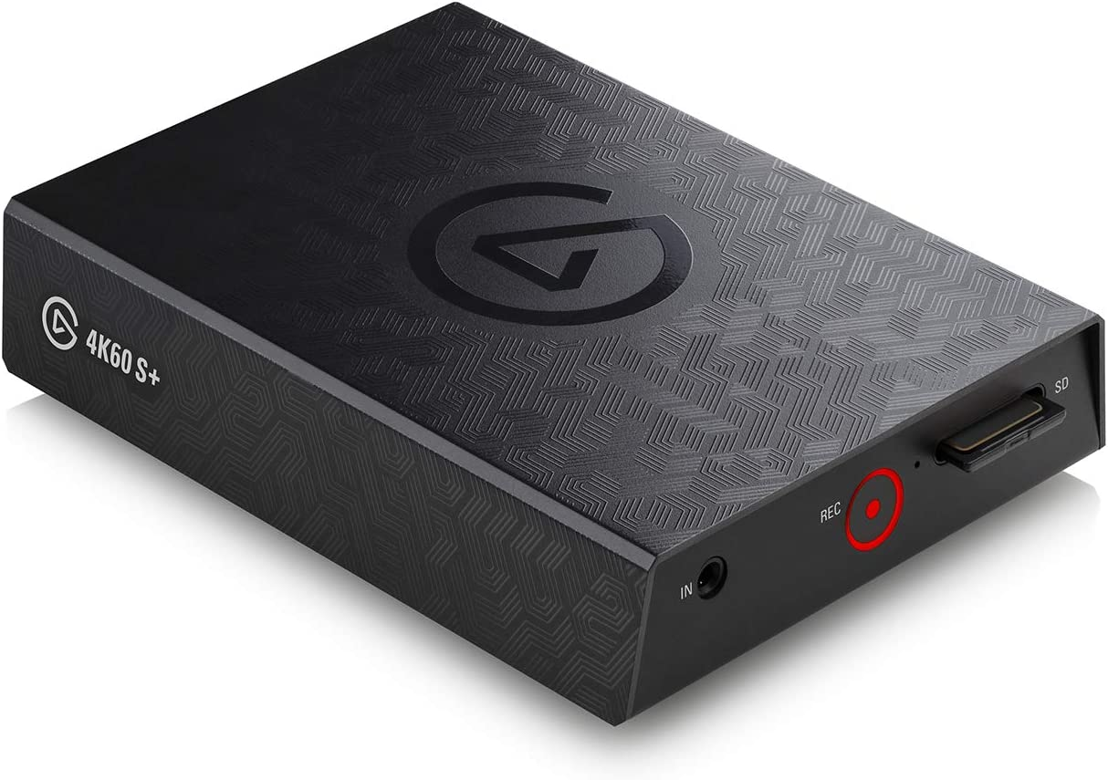 Elgato Game Capture 4K60 S+ 4K60 HDR10 Capture with Standalone Sd Card Recording, Zero-Lag Passthrough