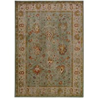 Oriental Weavers 4446C Casablanca Area Rug, 6 7 x 9 6, Blue/Grey