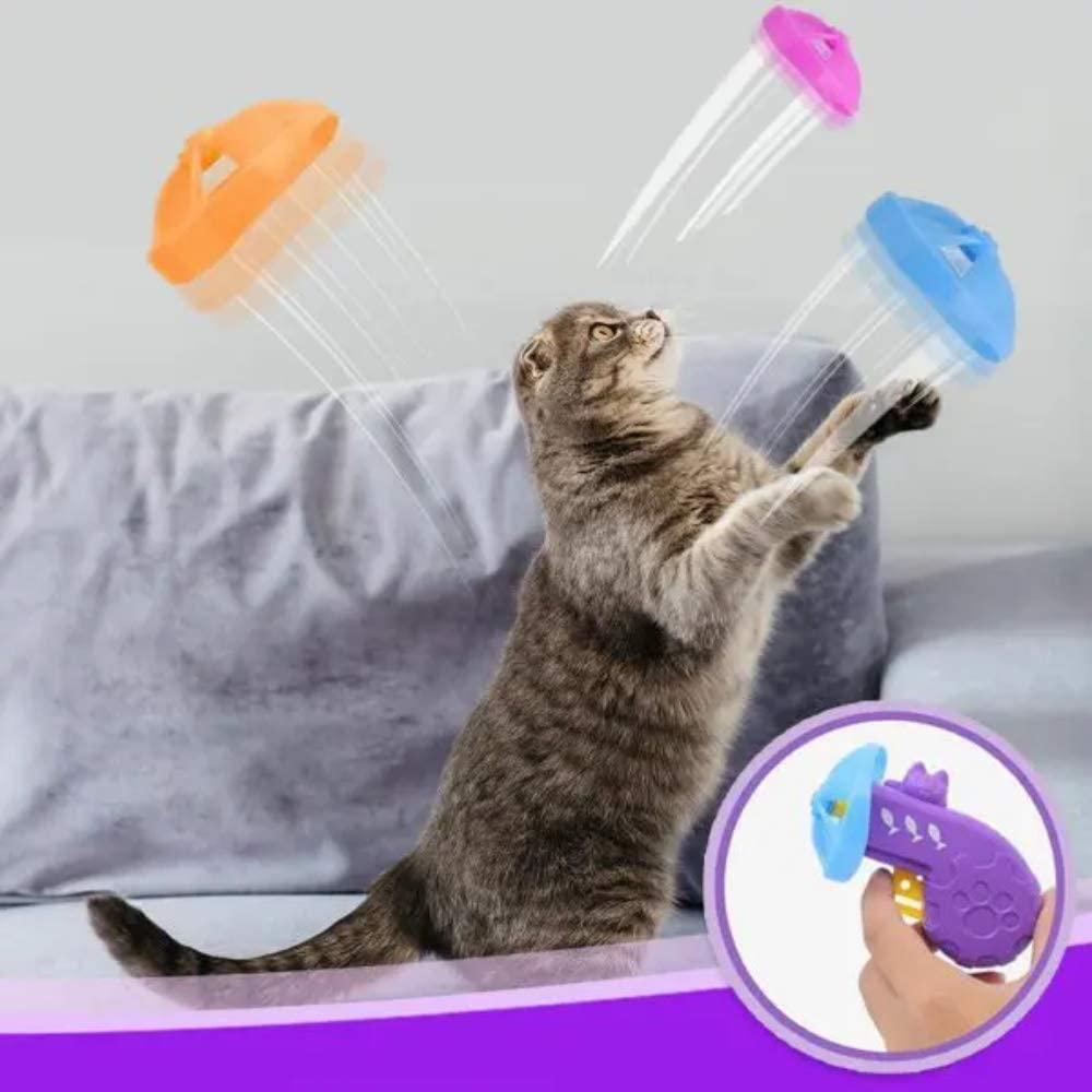 Amazingly Cat Fetch Toy with 5 Colors Flying Propellers Azcczzii Cat Fetch Toy Interactive Toys for Cats and Dogs Purple Cat Tracks Cat Toy Pet Chaser Toys for Exercise
