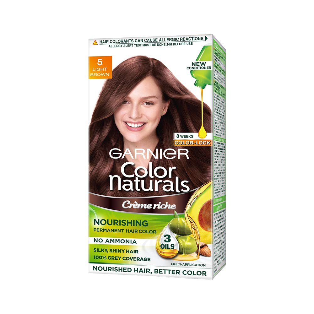 Buy Garnier Color Naturals Creme Hair Color Shade 5 Light Brown 70ml 60g Online At Low Prices In India Amazon In
