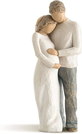 Sculpted Figure of Dad, Mum and Bump