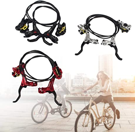 Black ZOOM Mountain Bike Hydraulic Disc Brakes levers Calipers Front Rear Brake