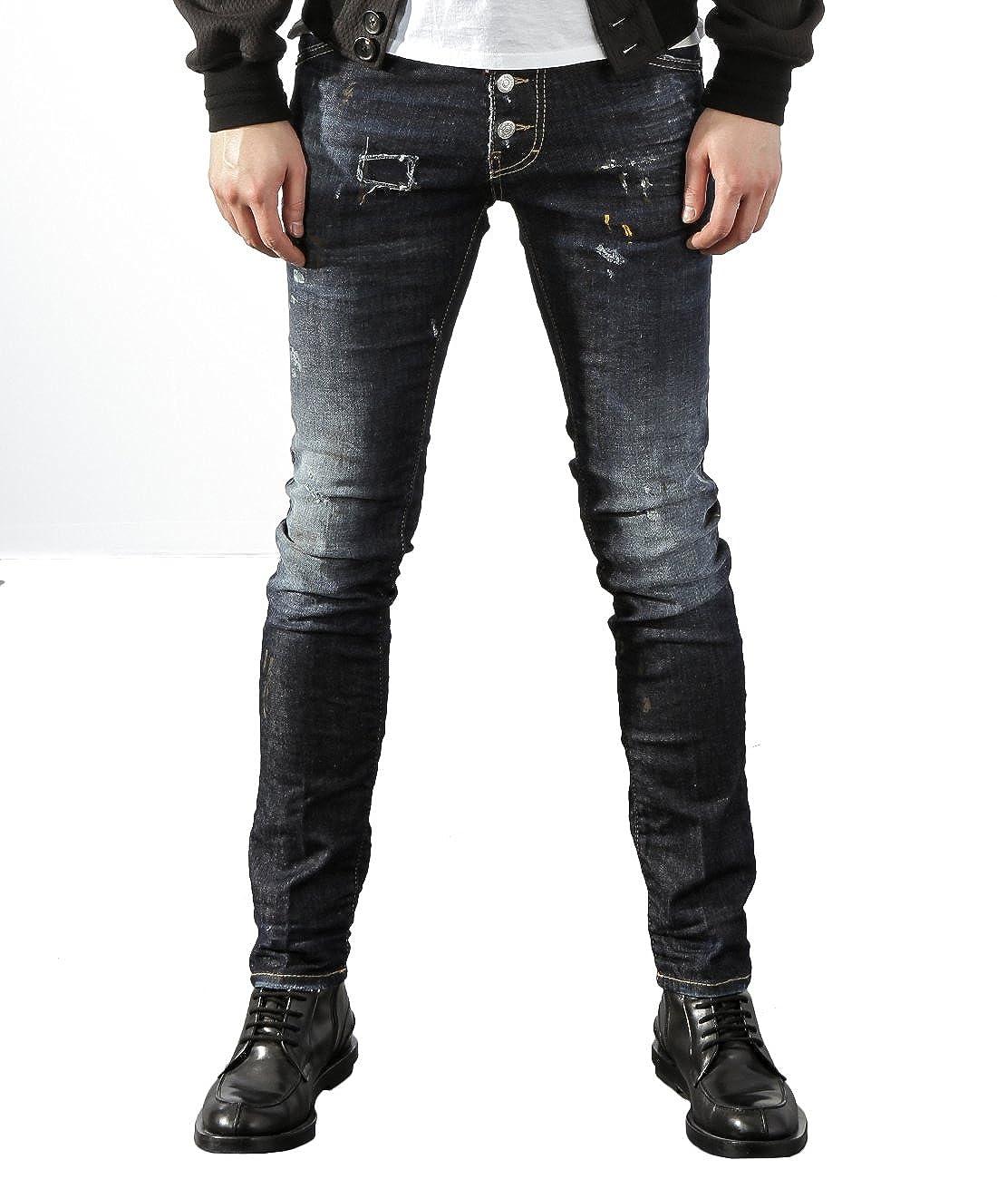 Dsquared Jeans Paint Splatter Black