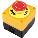 AC 660V 10A Plastic Shell Red Sign Emergency Stop Push Button Switch